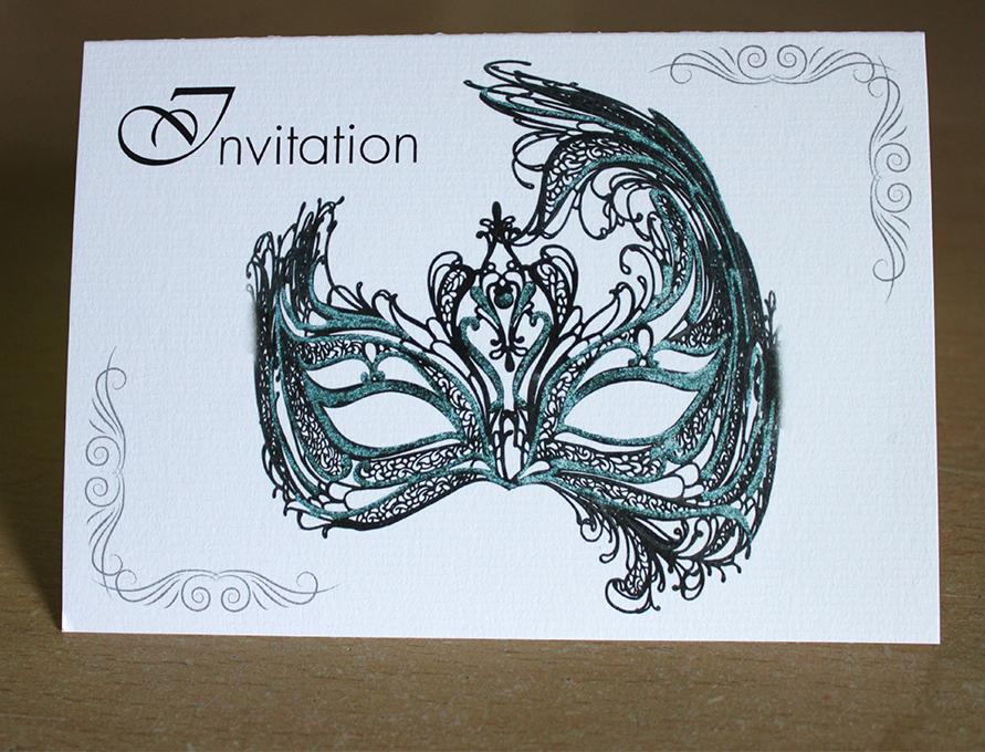 Cartes d'invitation anniversaire déguisé