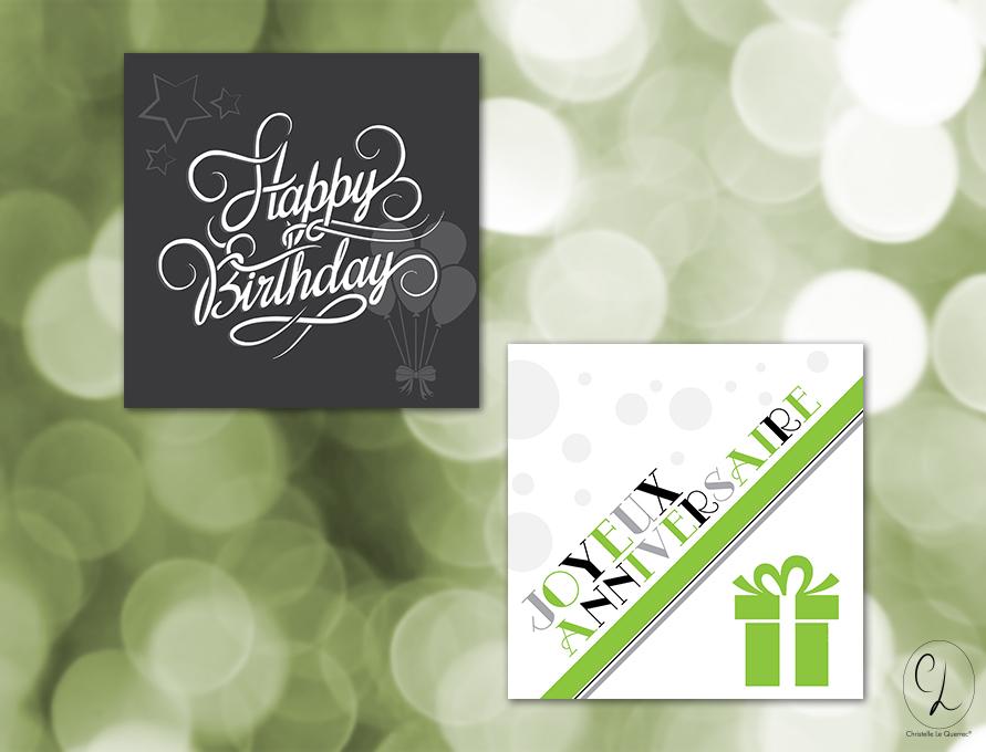 Carte de vœux - anniversaire