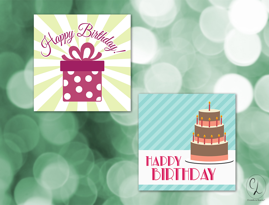 Carte anniversaire - Happy Birthday !