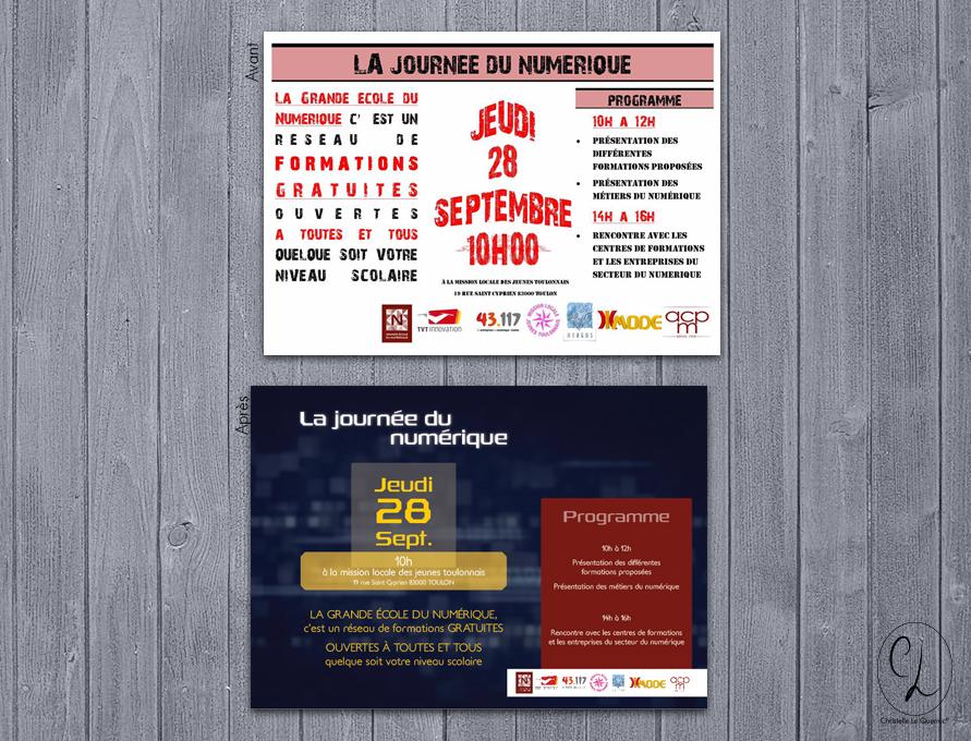 Flyers, recréation CL Journée du numérique