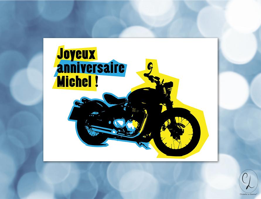 Carte d'anniversaire - Carte de voeux Michel