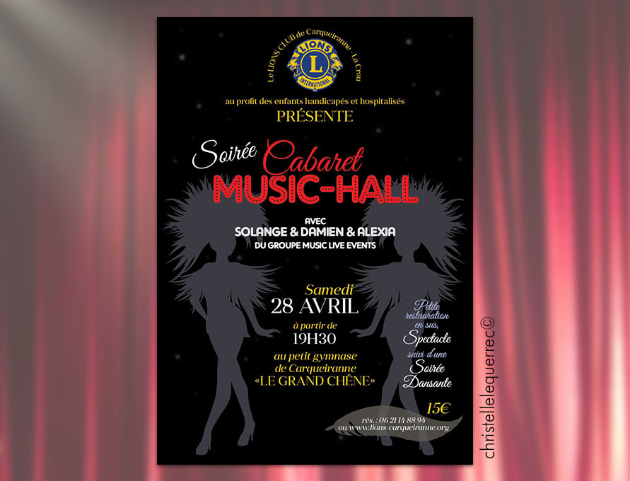 Flyers cabaret music-hall - Christelle Le Querrec