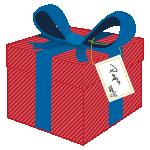 étiquettes de noël sur cadeau_Christelle Le Querrec