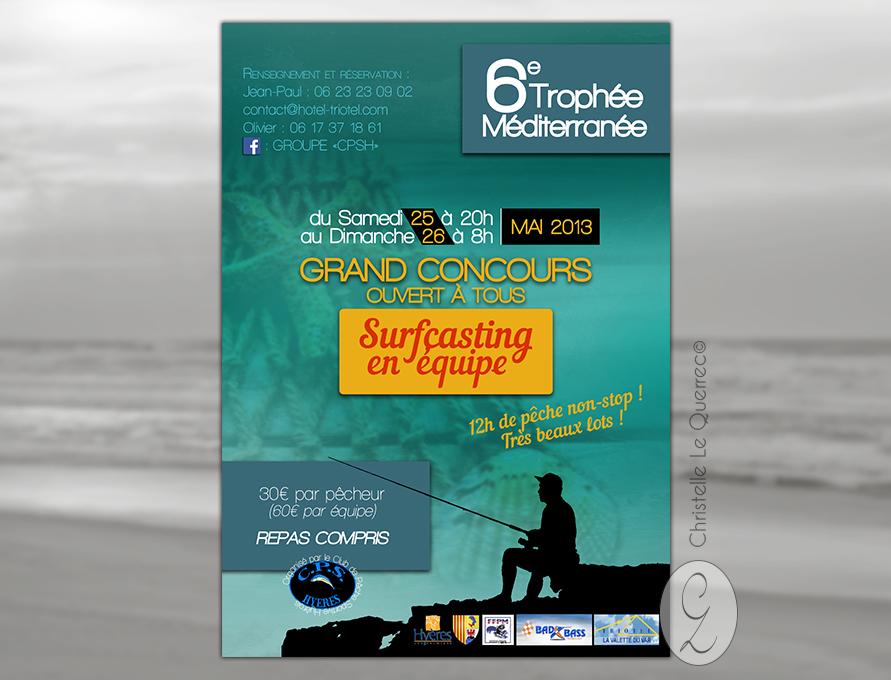 Affiche Surfcasting - Christelle Le Querrec