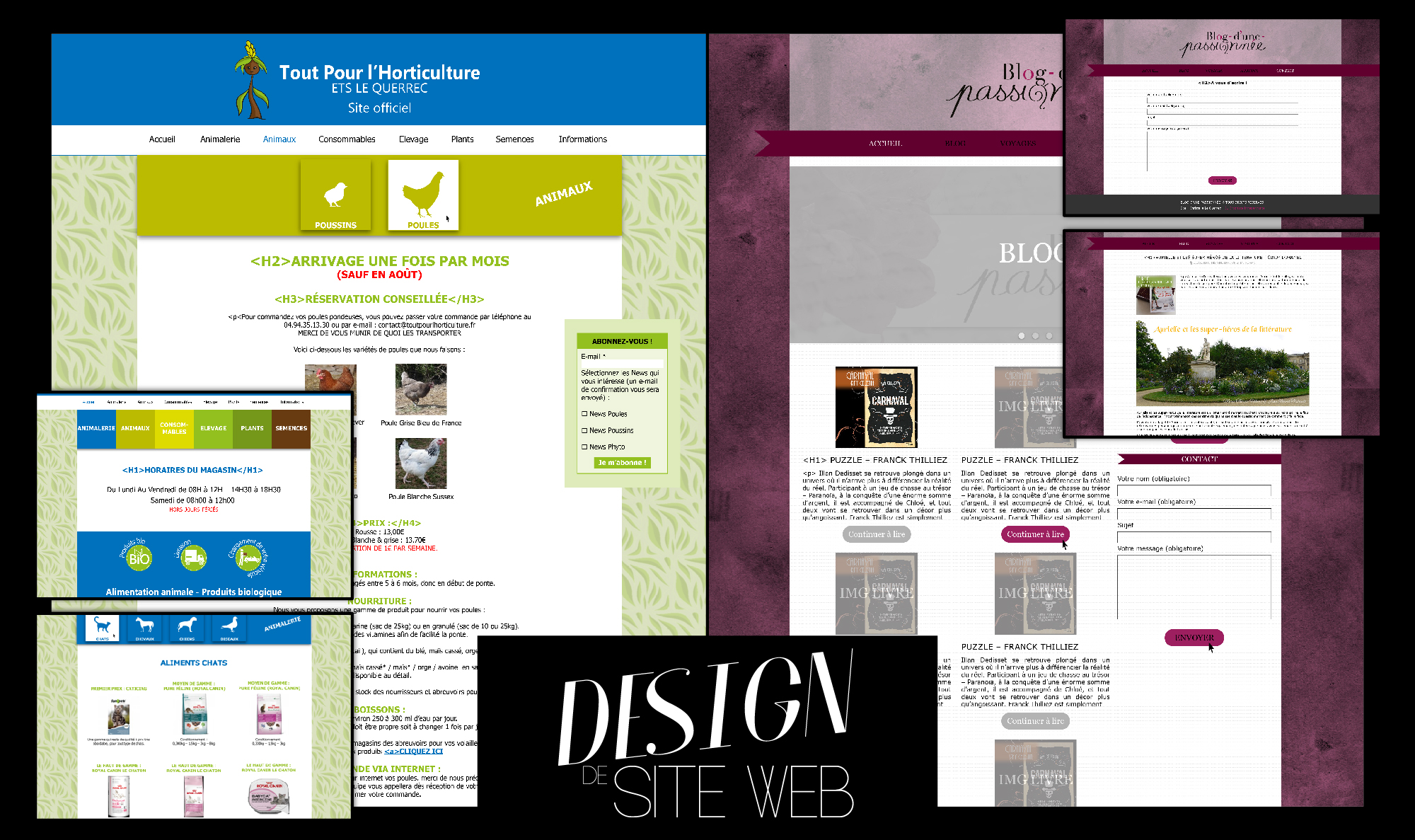 Design site internet - Christelle Le Querrec