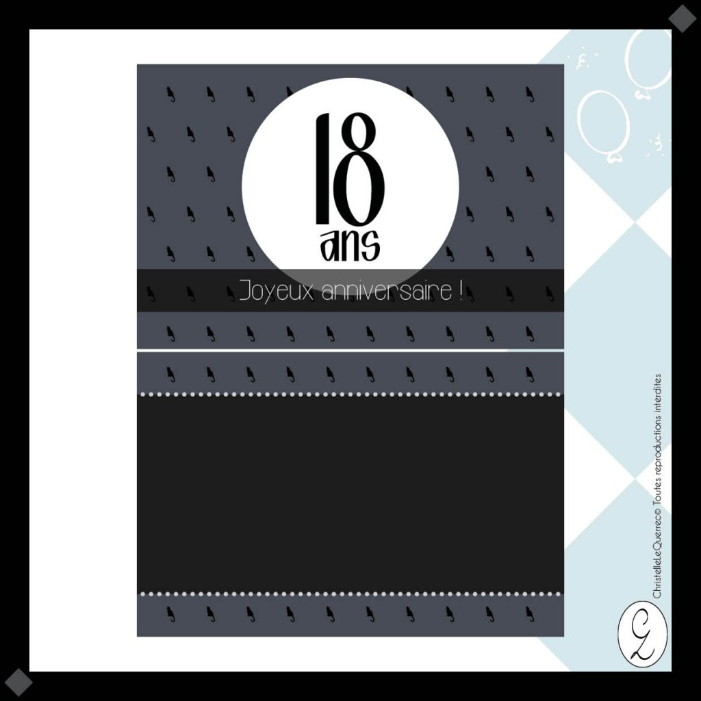 Carte d'invitation anniversaire