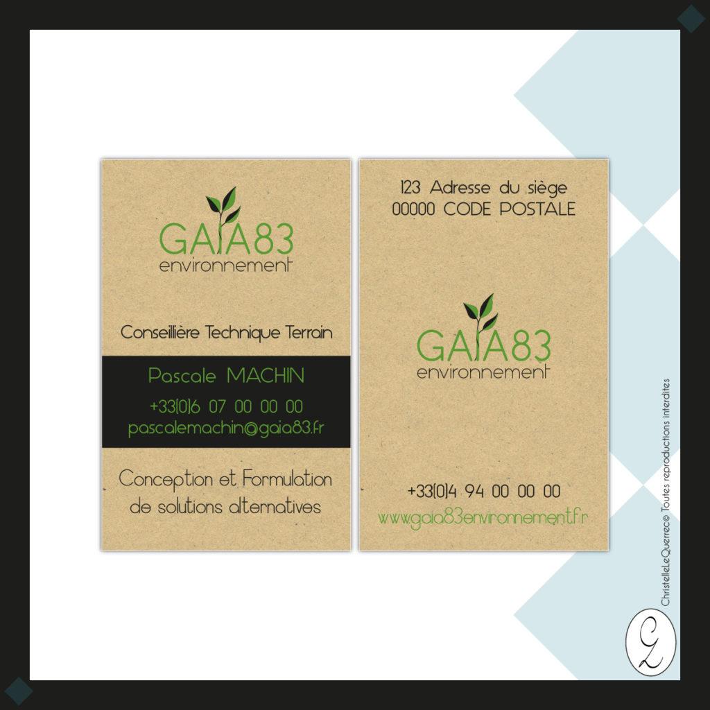 Gaia83 environnement Carte de visite_Christelle Le Querrec