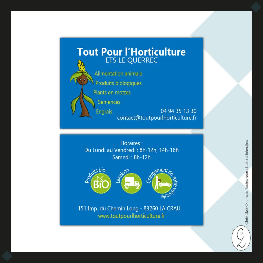 Tout pour l'horticulture Carte de visite_Christelle Le Querrec