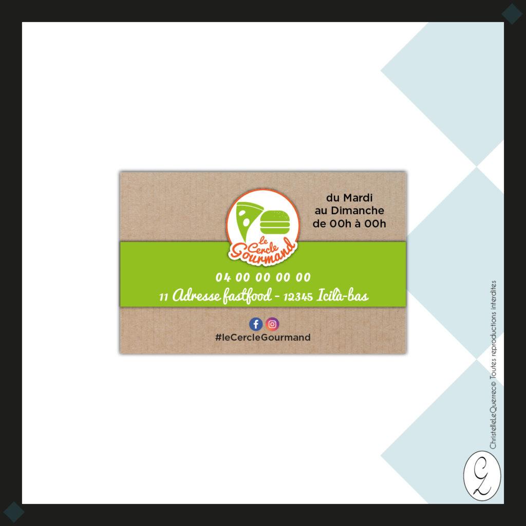 le Cercle Gourmand Carte de visite_Christelle Le Querrec