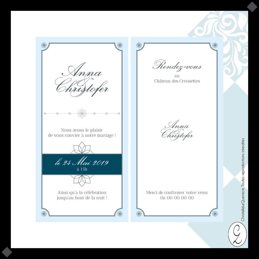 Cendrillon Faire-part Mariage_Christelle Le Querrec