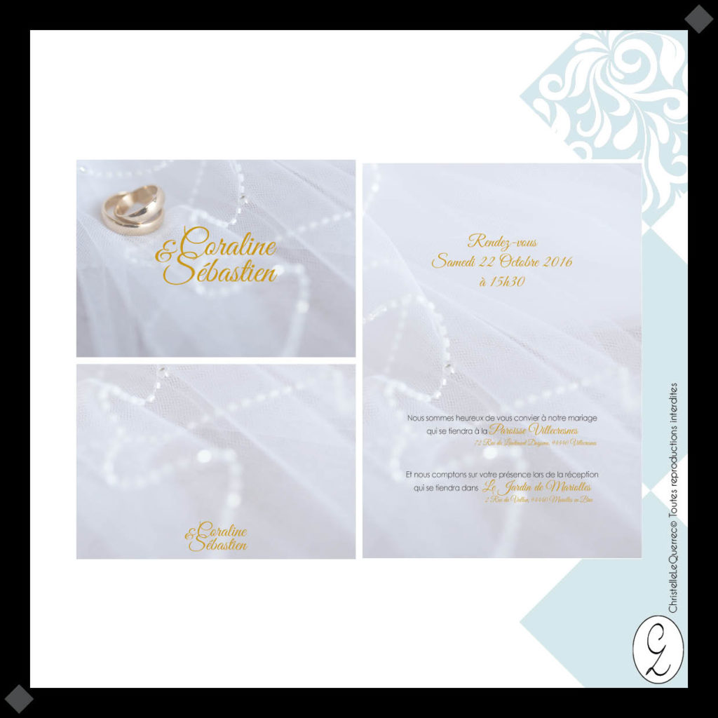Simple Faire-part Mariage_Christelle Le Querrec