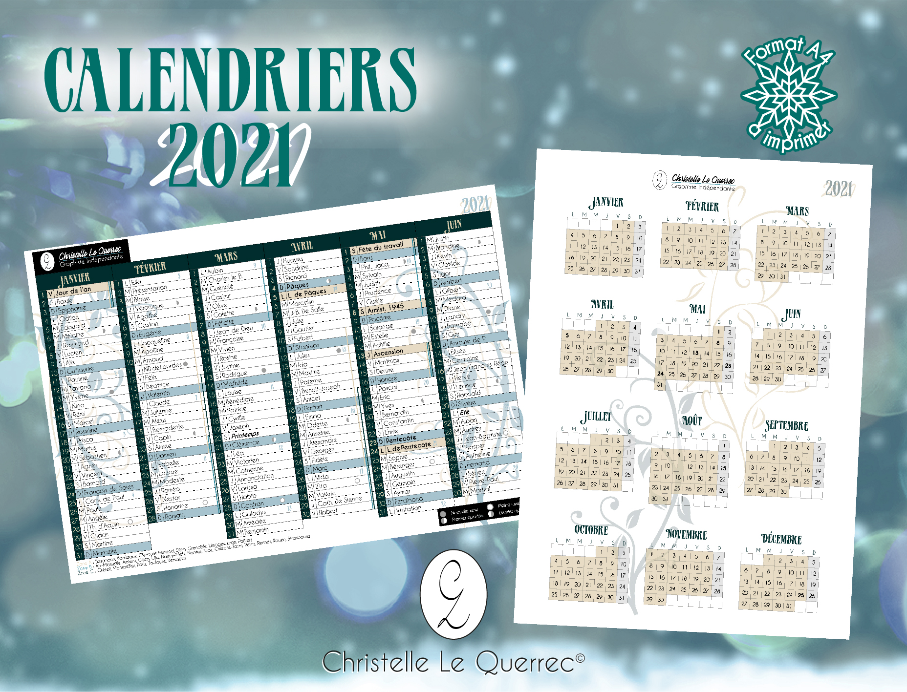 Calendriers 2021 - Calendrier A4